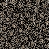 Black Lace Seamless Pattern.