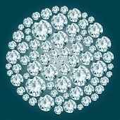 Round Decorative Diamond Composition