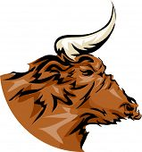 Mascot Illustration Featuring a Bull
