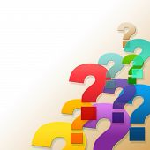 Question Marks Shows Frequently Asked Questions And Answer