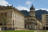 stock photo of bolivar  - Monumental colonial building of National Capitol Bogota Colombia - JPG