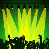 Audience Spotlight Represents Backdrop Backgrounds And Entertainment