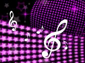 Music Notes Means Sound Track And Background