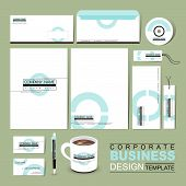 Business Corporate Identity Template With White Blue Circle