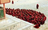 Buddhist monks praying at Labrang Monastery
