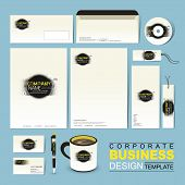 Business Corporate Identity Template With Grunge And Ink
