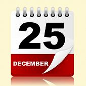 Twenty Fifth Indicates New Year And 25