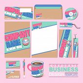 Business Corporate Identity Template With Retro Style