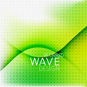 Colorful blurred wave business hi-tech background with dot textrure