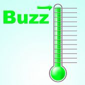Thermometer Buzz Means Public Relations And Aware