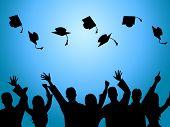 Education Graduation Indicates Degree Ceremony And Finishing
