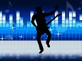 Guitar Equaliser Indicates Sound Track And Audio