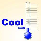 Cool Thermometer Shows Thermostat Frosty And Coldness