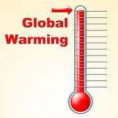 Global Warming Indicates Fahrenheit Thermometer And Celsius