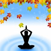 Yoga Leaves Indicates Meditate Relaxation And Plant