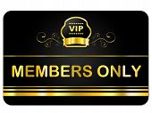 Membership Card Shows Very Important Person And Celebrity