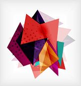 Abstract 3d triangle blank background with space for text