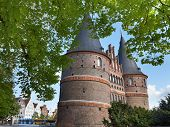 The Holstein Gate In Lubeck, Germany