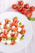 salad with mozzarella and tomato