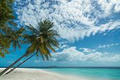 Perfect tropical island paradise beach