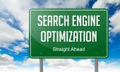Search Engine Optimization on Highway Signpost.