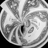 2 Dollar Bill Swirl