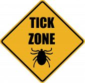 Tick Zone Warning Sign