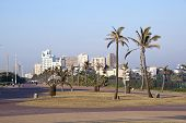 Paved Road Leading Into Durban's Golden Mile
