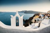 View Of The Oia On Beautiful Santorini Island, Greece