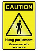 Hung Parliament Hazard Sign