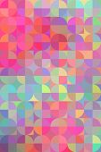 Abstract multi-colored geometric background with circles. Vector