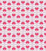 Beautiful seamless pattern with hearts