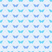 Seamless pattern with bitterflies