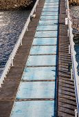 Blue And Grey Concrete Pier