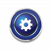Settings Circular Vector Blue Web Icon Button