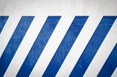 Blue Diagonal Stripes On A White Wall