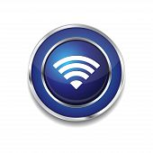 WIFI Circular Vector Blue Web Icon Button