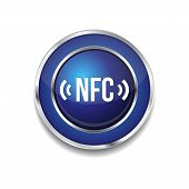 NFC Circular Vector Blue Web Icon Button