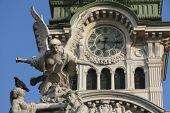 Town Square Piazza Unita In Trieste, Italia