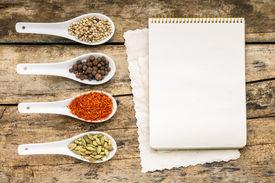 picture of recipe card  - Menu background - JPG