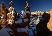 Unusual shapes of the Bryce Canyon