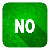 no flat icon, christmas button