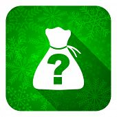 riddle flat icon, christmas button