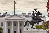 Jackson Statue Lafayette Park White House Autumn Pennsylvania Ave Washington Dc