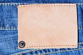 Denim Background With Label