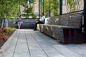 High Line.  New York City. Elevated Pedestrian Park