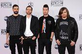 LOS ANGELES - NOV 23:  Bastille arrives to the 2014 American Music Awards on November 23, 2014 in Los Angeles, CA