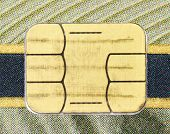 picture of debit card  - Electronic chip on a credit card or debit card - JPG