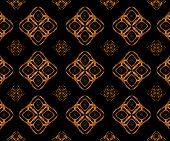 Stars Motif Geometric Arabesque Pattern