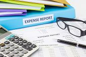 Business Expense Report With Binder